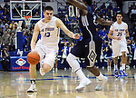February 28, 2015 - Colorado Springs, Colorado, U.S. -  Air Force guard, Matt Mooney #13, drives the lane, during an NCAA basketball game between the Utah State Aggies and the Air Force Academy Falcons at Clune Arena, U.S. Air Force Academy, Colorado Springs, Colorado.   Utah State defeats Air Force 74-60.