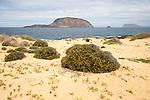 Montana Clara island nature reserve from Graciosa island, Lanzarote, Canary Islands, Spain