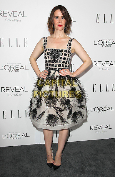 20 October  2014 - Beverly Hills, California - Sarah Paulson. 2014 ELLE Women In Hollywood Awards held at the Four Seasons Hotel.  <br /> CAP/ADM/FS<br /> &copy;Faye Sadou/AdMedia/Capital Pictures