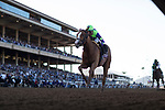 DEL MAR, CA - NOVEMBER 04: Good Magic #6, ridden by Jose Ortiz, leads the field on the home stretch on Day 2 of the 2017 Breeders' Cup World Championships at Del Mar Thoroughbred Club on November 4, 2017 in Del Mar, California. (Photo by Alex Evers/Eclipse Sportswire/Breeders Cup)