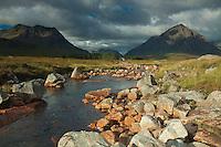 Buachaille Etive Mor and Creise and the River Etive, Rannoch Moor, Glencoe, Highland