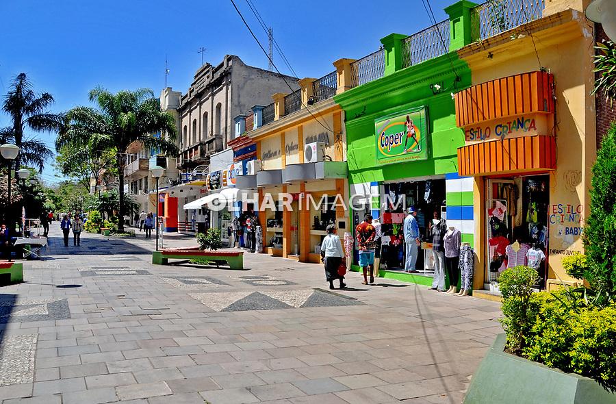 Calçadão na cidade de Alegrete. Rio Grande do Sul. 2009. Foto de Zig Koch.