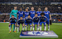 Chelsea pre match team photo during the UEFA Champions League Round of 16 2nd leg match between Chelsea and PSG at Stamford Bridge, London, England on 9 March 2016. Photo by Andy Rowland.