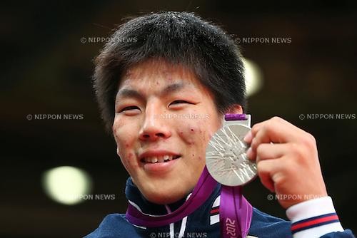 Riki Nakaya (JPN), .JULY 30, 2012 - Judo : .Men's -73kg Medal Ceremony .at ExCeL .during the London 2012 Olympic Games in London, UK. .(Photo by Daiju Kitamura/AFLO SPORT) [1045].