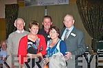Enjoying the Banna National School reunion held at the Ballyroe Hts Hotel last Friday night were l-r: Brendan Kelliher, Phil Halpin, John Clifford, Áine Fitzgerald and John O'Sullivan.