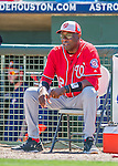15 March 2016: Washington Nationals Manager Dusty Baker prepares for the start of a Spring Training pre-season game against the Houston Astros at Osceola County Stadium in Kissimmee, Florida. The Nationals defeated the Astros 6-4 in Grapefruit League play. Mandatory Credit: Ed Wolfstein Photo *** RAW (NEF) Image File Available ***