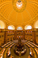 Overview of the Main Reading Room, Thomas Jefferson Building, The Library of Congress, Washington D.C., U.S.A.