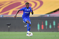 Christian Kouame of Fiorentina<br /> during the Serie A football match between AS Roma and ACF Fiorentina at stadio Olimpico in Roma (Italy), July 26th, 2020. Play resumes behind closed doors following the outbreak of the coronavirus disease. <br /> Photo Antonietta Baldassarre / Insidefoto