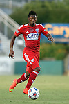 09 July 2014: Dallas' Fabian Castillo (COL). The Carolina RailHawks of the North American Soccer League played FC Dallas of Major League Soccer at WakeMed Stadium in Cary, North Carolina in the quarterfinals of the 2014 Lamar Hunt U.S. Open Cup soccer tournament. FC Dallas won the game 5-2.