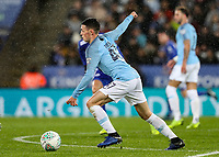 Manchester City 's  Phil Foden breaks<br /> <br /> Photographer Andrew Kearns/CameraSport<br /> <br /> English League Cup - Carabao Cup Quarter Final - Leicester City v Manchester City - Tuesday 18th December 2018 - King Power Stadium - Leicester<br />  <br /> World Copyright &copy; 2018 CameraSport. All rights reserved. 43 Linden Ave. Countesthorpe. Leicester. England. LE8 5PG - Tel: +44 (0) 116 277 4147 - admin@camerasport.com - www.camerasport.com