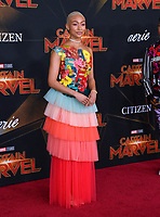 "LOS ANGELES, CA. March 04, 2019: Tati Gabrielle at the world premiere of ""Captain Marvel"" at the El Capitan Theatre.<br /> Picture: Paul Smith/Featureflash"