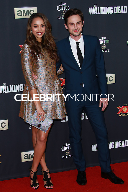 UNIVERSAL CITY, CA, USA - OCTOBER 02: Amber Stevens; Andrew J. West arrive at the Los Angeles Premiere Of AMC's 'The Walking Dead' Season 5 held at AMC Universal City Walk on October 2, 2014 in Universal City, California, United States. (Photo by David Acosta/Celebrity Monitor)