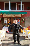 ITALY, Venice. Portait of owner Lele Masiol in front of his restaurant, Busa Alla Torre, located in the island of Murano.