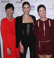 NEW YORK, NY-October 13:Karen Peetz, Bella Hadid, Heather Glass  at the Global Lyme Alliance's 2016 United For A Lyme-Free World Gala at Cipriani 42nd Street in New York.October 13, 2016. Credit:RW/IMerdiaPunch
