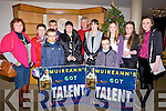 SUPPORTING: Supporting Muireann Dineen Waterville at the Wild Card Kerry Got Talent at Siamsa Tire Tralee on Sunday evening, l-r:Eileen Mangan, Eileen O'Sullivan, Colm Mangan, Micheal, mary, Ted and Maeve Dineen, Padraig Mangan, Chloe O'Donoghue, Ciara O'Connor, and Nicole Curran.