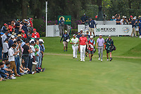 Ian Poulter (GBR) leads the pack down 17 during round 4 of the World Golf Championships, Mexico, Club De Golf Chapultepec, Mexico City, Mexico. 2/24/2019.<br /> Picture: Golffile | Ken Murray<br /> <br /> <br /> All photo usage must carry mandatory copyright credit (© Golffile | Ken Murray)
