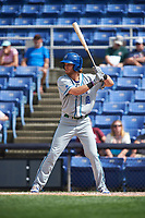 Hartford Yard Goats right fielder Max White (18) at bat during a game against the Binghamton Rumble Ponies on July 9, 2017 at NYSEG Stadium in Binghamton, New York.  Hartford defeated Binghamton 7-3.  (Mike Janes/Four Seam Images)