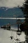 Private jetty and Gazebo in Deep Cove, North Vancouver, British Columbia, Canada.