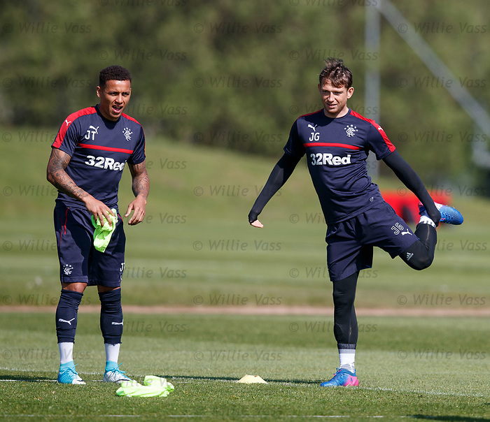 James Tavernier and Joe Garner
