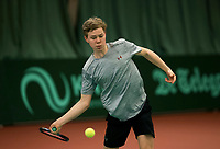 Netherlands, The Hague,  March 10, 2017, Tennis,  National Indoor Junior Championships, NOJK, , Lodewijk Weststrate (NED)<br /> Photo: Tennisimages/Henk Koster