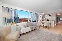 Living Room at 322 West 57th Street