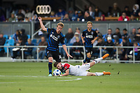 Santa Clara, CA - Saturday May 19, 2018: D.C. United defeated the San Jose Earthquakes 3-1 in a Major League Soccer (MLS) game at Avaya Stadium.
