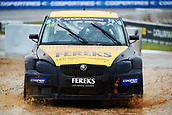 14th April 2018, Circuit de Barcelona-Catalunya, Barcelona, Spain; FIA World Rallycross Championship; Aydar Nuriev of the Volland Racing Kft Super 1600 Team in action during the very wet Q2