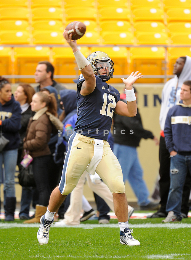 TINO SUNSERI, of the Pittsburgh Panthers, in action, during Pitt's game against the Utah Utes on October 15, 2011 at Heinz Field in Pittsburgh, PA. Utah beat Pitt 26-14.