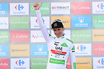 Tadej Pogacar (SLO) UAE Team Emirates wins Stage 13 and takes over the young riders White Jersey of La Vuelta 2019 running 166.4km from Bilbao to Los Machucos, Spain. 6th September 2019.<br /> Picture: Luis Angel Gomez/Photogomezsport | Cyclefile<br /> <br /> All photos usage must carry mandatory copyright credit (© Cyclefile | Luis Angel Gomez/Photogomezsport)