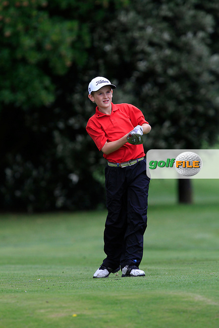 Patrick O'Shea (Kilkenny) on the 11th tee during the Irish Boys Under 13 Amateur Open Championship in Malahide Golf Club on Monday 11th August 2014.<br /> Picture:  Thos Caffrey / www.golffile.ie