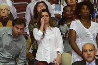 RIO DE JANEIRO, RJ, 28 JULHO 2012 - JMJ2013-PREPARAI O CAMINHO- Rodrigo Maia, Clarissa Garotinho, emocionada e Benedita no evento Preparai o Caminho,no maracanazinho, inicio da preparacao para a Jornada Mundial da Juventude-JMJ2013,no Rio de Janeiro, neste sabado dia 28, maracana, zona norte do rio.(FOTO: MARCELO FONSECA / BRAZIL PHOTO PRESS).