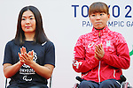 (L to R) <br /> Mami Tani, <br /> Monika Seryu, <br /> AUGUST 25, 2016 : <br /> The countdown event to mark 4 years to the start of <br /> the 2020 Tokyo Paralympic Games <br /> at Tokyo Metropolitan Government, Tokyo, Japan. <br /> (Photo by YUTAKA/AFLO SPORT)