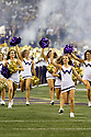 SEATTLE, WA - September 07:  Washington cheer member Makayla Waggoner entertained fans during the college football game between the Washington Huskies and the California Bears on September 07, 2019 at Husky Stadium in Seattle, WA. Jesse Beals / www.Olympicphotogroup.com