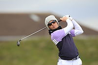 Gisli Sveinbergsson (ICE) on the 5th tee during Round 1 of the The Amateur Championship 2019 at The Island Golf Club, Co. Dublin on Monday 17th June 2019.<br /> Picture:  Thos Caffrey / Golffile<br /> <br /> All photo usage must carry mandatory copyright credit (© Golffile | Thos Caffrey)