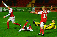 Fleetwood Town's Ched Evans is fouled in the penalty box by Burton Albion's Jake Buxton<br /> <br /> Photographer Richard Martin-Roberts/CameraSport<br /> <br /> The EFL Sky Bet League One - Saturday 15th December 2018 - Fleetwood Town v Burton Albion - Highbury Stadium - Fleetwood<br /> <br /> World Copyright &copy; 2018 CameraSport. All rights reserved. 43 Linden Ave. Countesthorpe. Leicester. England. LE8 5PG - Tel: +44 (0) 116 277 4147 - admin@camerasport.com - www.camerasport.com