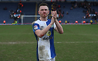 Blackburn Rovers' Corry Evans celebrates their win at the end of the match<br /> <br /> Photographer Rachel Holborn/CameraSport<br /> <br /> The EFL Sky Bet League One - Blackburn Rovers v Blackpool - Saturday 10th March 2018 - Ewood Park - Blackburn<br /> <br /> World Copyright &copy; 2018 CameraSport. All rights reserved. 43 Linden Ave. Countesthorpe. Leicester. England. LE8 5PG - Tel: +44 (0) 116 277 4147 - admin@camerasport.com - www.camerasport.com