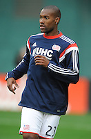 Washington, D.C.- March 29, 2014. Jose Goncalves (23) of the New England Revolution.  D.C. United defeated the New England Revolution 2-0 during a Major League Soccer Match for the 2014 season at RFK Stadium.
