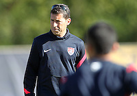 MIAMI, FL - DECEMBER 21, 2012:  Head coach Tab Ramos of the USA MNT U20 during a closed scrimmage with the Venezuela U20 team, on Friday, December 21, 2012, At the FIU soccer field in Miami.  USA won 4-0.