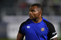 Semesa Rokoduguni of Bath Rugby looks on during the pre-match warm-up. Gallagher Premiership match, between Bath Rugby and Exeter Chiefs on October 5, 2018 at the Recreation Ground in Bath, England. Photo by: Patrick Khachfe / Onside Images