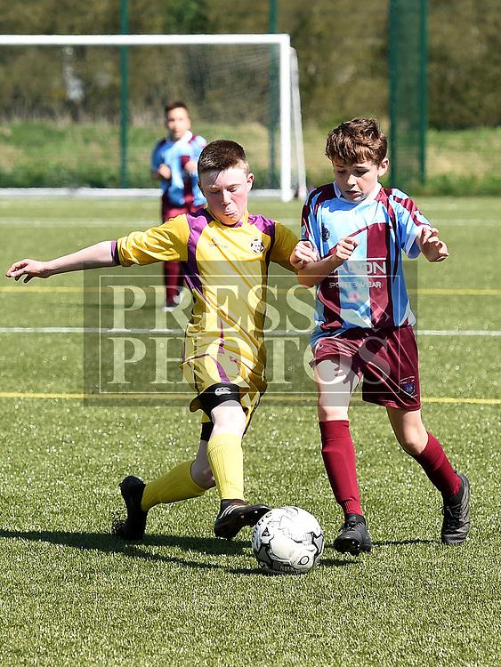 Drogheda Schoolboys Adam Gillespie Wexford Ciaran Scott. Photo:Colin Bell/pressphotos.ie
