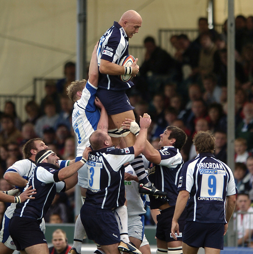 Photo: Jonathan Butler..Bristol Rugby v Bath Rugby. EDF Anglo-Welsh Cup. 01/10/2006..Nathan Budgett of Bristol.