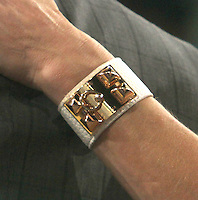 NEW YORK, NY - JANUARY 31: Close up of Lara Spencer's Bracelet at Good Morning America in New York City. January 31, 2013. Credit: RW/MediaPunch Inc. /NortePhoto