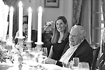 David Rockfeller at a dinner with the Rockefeller Brothers Fund's Officers at Kykuit to honor his 100th birthday.