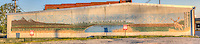 Mural on the side of building on Bristow Oklahoma on Route 66.