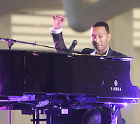 NEW YORK, NY-August 16: John Legend performed at  the Grand opening of Westfield World Trade Center Mall World Trade Center in New York. August 16, 2016. Credit:RW/MediaPunch