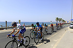 The peloton including Laurens De Plus (BEL) Quick-Step Floors wearing the Combined Jersey leave the coast and head for Granada after the start of Stage 4 of the La Vuelta 2018, running 162km from Velez-Malaga to Alfacar, Sierra de la Alfaguara, Andalucia, Spain. 28th August 2018.<br /> Picture: Ann Clarke | Cyclefile<br /> <br /> <br /> All photos usage must carry mandatory copyright credit (&copy; Cyclefile | Ann Clarke)