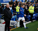 Wayne Rooney of Everton leads out his team during the premier league match at the Goodison Park Stadium, Liverpool. Picture date 2nd December 2017. Picture credit should read: Simon Bellis/Sportimage