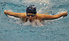 Hazel Wilkins of Bellmore-Merrick swims to victory in the 100 butterfly event during a Nassau County varsity girls swimming meet against Garden City at Nassau Aquatic Center in East Meadow on Tuesday, Oct. 18, 2016.
