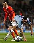 Gabriel Jesus of Manchester City is challenged by Viktor Kovalenko of Shakhtar Donetsk during the UEFA Champions League match at the Etihad Stadium, Manchester. Picture date: 26th November 2019. Picture credit should read: Darren Staples/Sportimage
