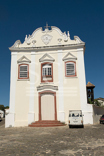 Goias Velho, Brazil. Well preserved colonial town. Igreja da Boa Morte (Church of the Good Death).